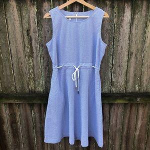 Talbots size 12P Striped Fit Flare Dress